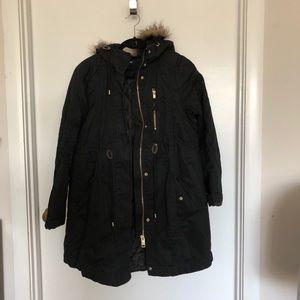 H&M mama black coat